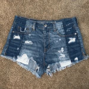 High wasted shorts, multi color & multiple buttons
